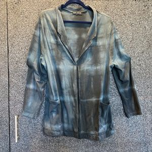 Mary Meyer Dyed and Screen Printed Blazer M